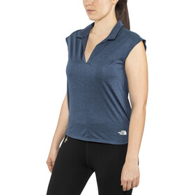 The North Face Inlux Top sin magas Mujer, blue wing teal dark heather